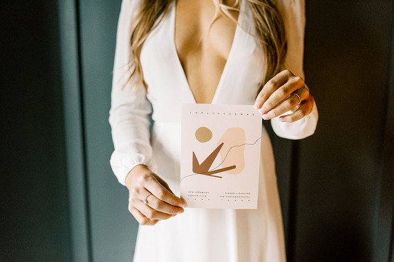 Minimal modern wedding invitations