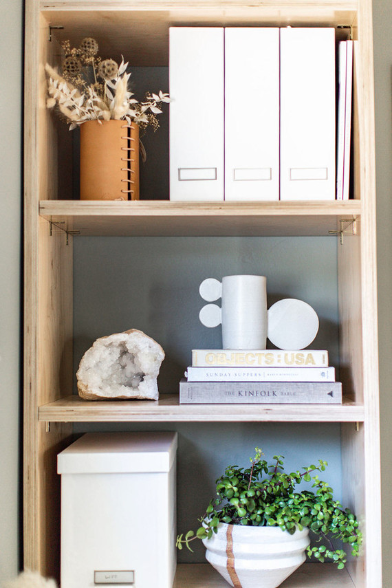 modern styled shelves