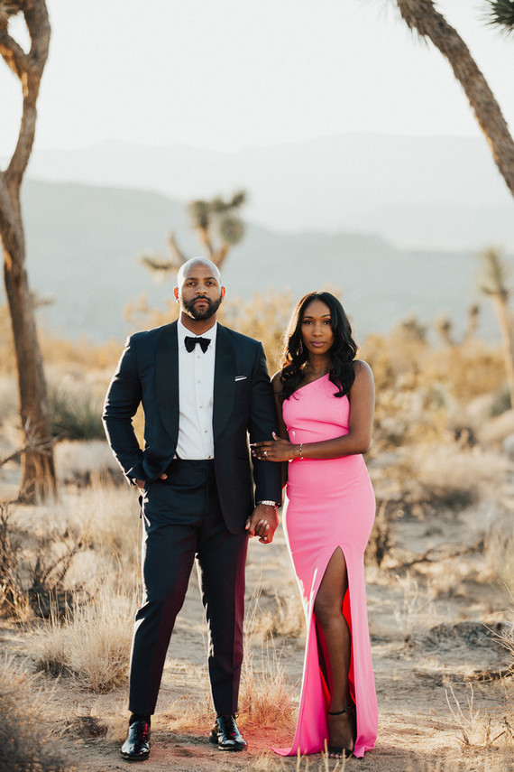 Formal desert engagement shoot