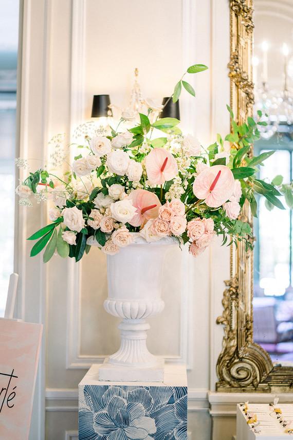 Red + pink Paris wedding