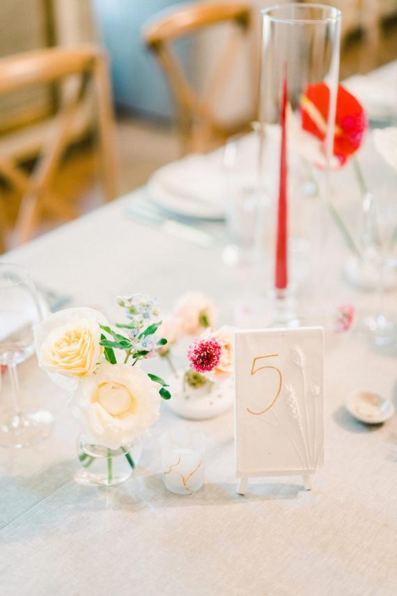 Elegant table number idea