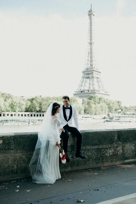 Elegant Paris destination wedding at a historic venue