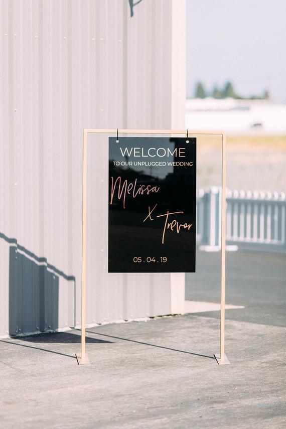 Acrylic wedding sign
