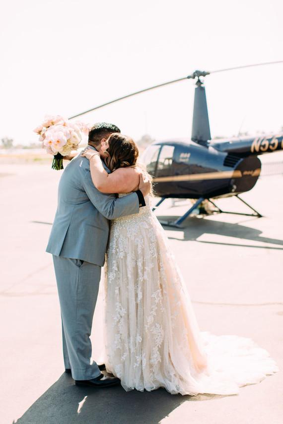 Airplane hangar wedding venue