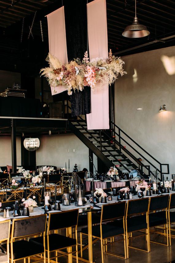 Blush and black wedding colors