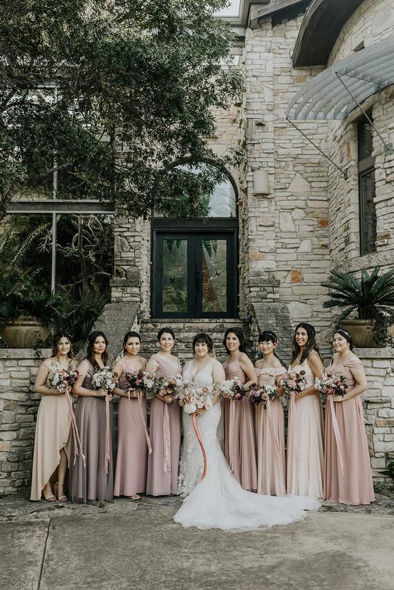 Neutral blush bridesmaid dresses