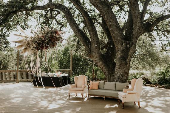 Romantic wedding lounge