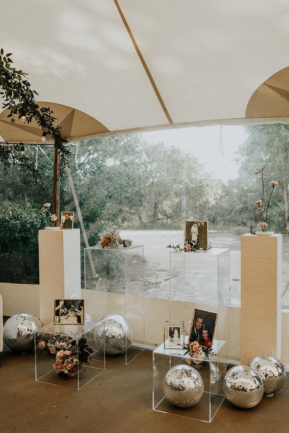 Disco balls for wedding decor
