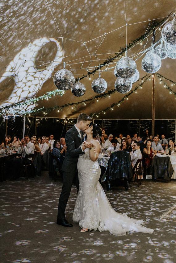 First dance under disco balls