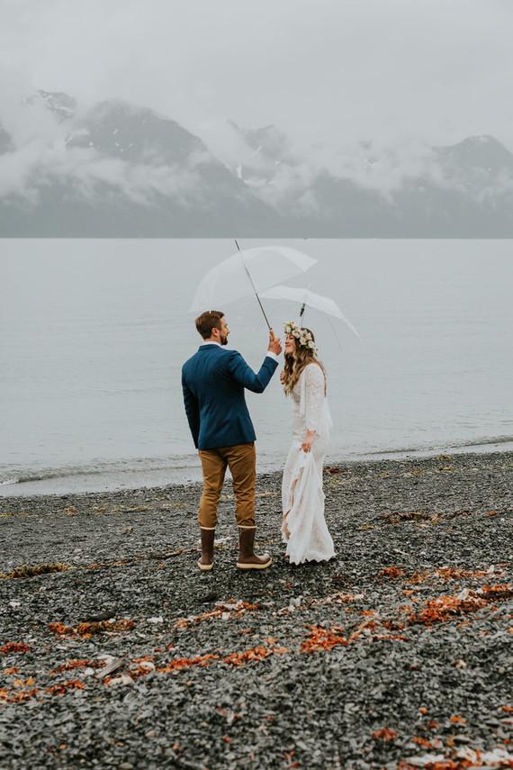 Rainy day Alaska wedding for The Bus & Us