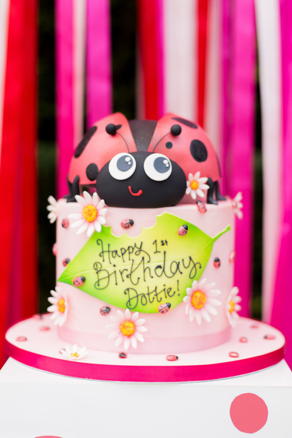 Phenomenal Dotties Ladybug Themed 1St Birthday Party In London 100 Layer Cake Personalised Birthday Cards Sponlily Jamesorg