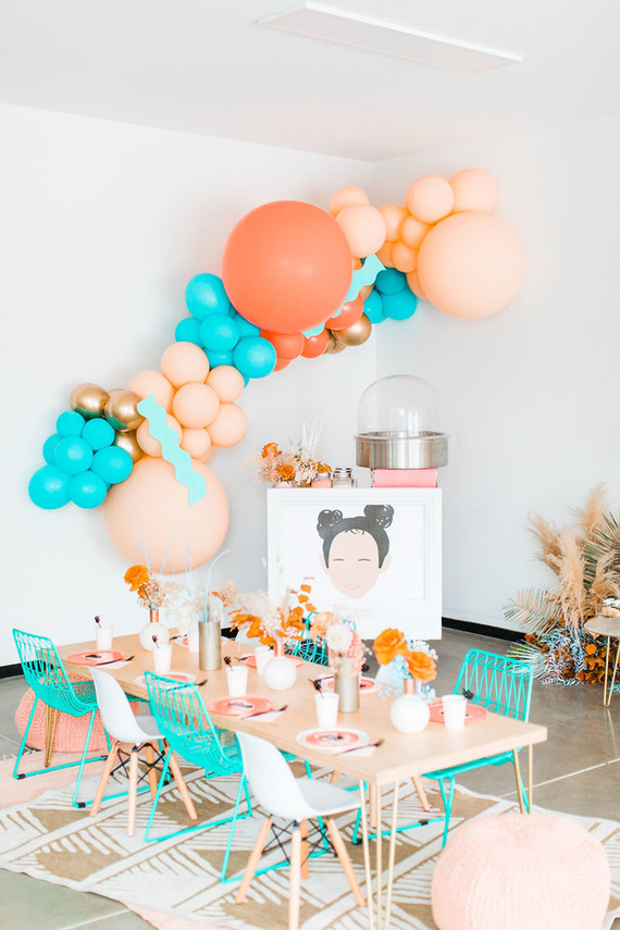 Balloon arch for girls birthday party
