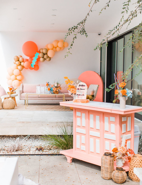 Coral bar for party