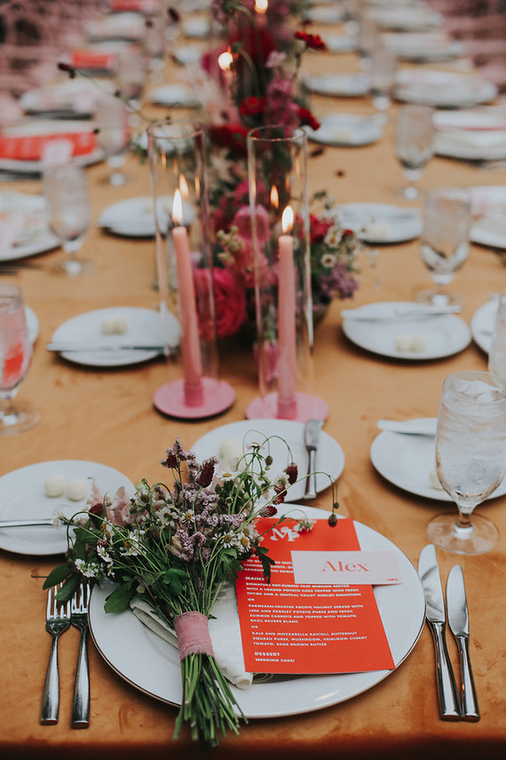 Graphic wedding menu ideas