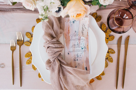 Fall watercolor place settings