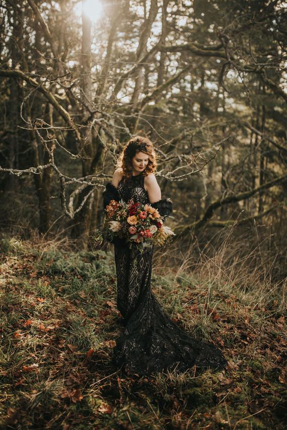 Black wedding dress for NYE wedding