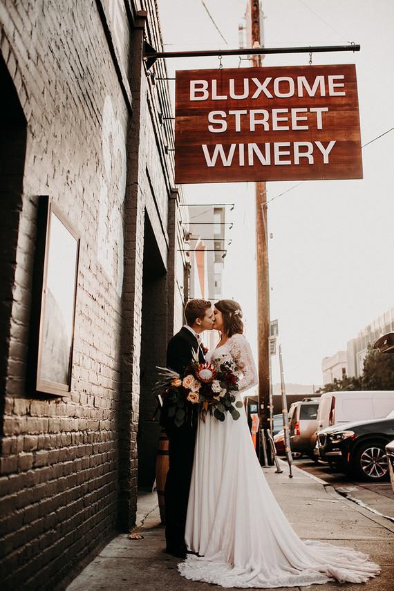 Winery themed wedding inspiration at The Big Fake Wedding San Francisco