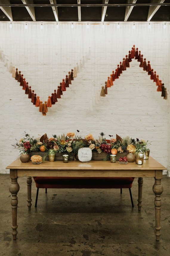 Yarn tassel backdrop