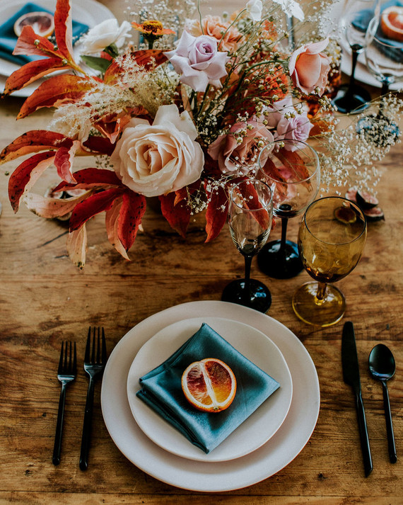 Gorgeous fall place setting ideas