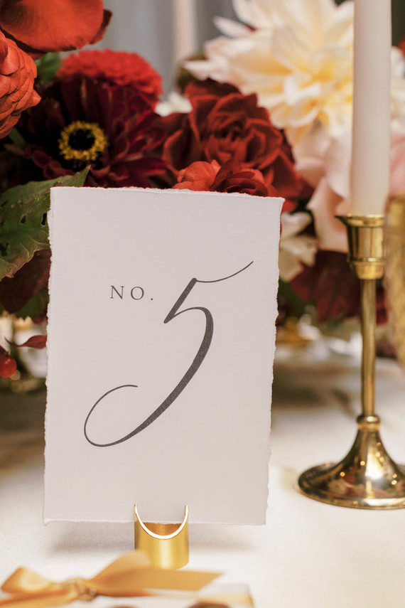 Calligraphy table number