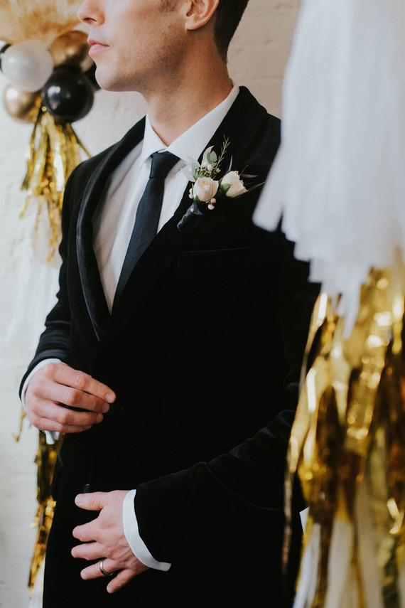 Winter groom's suit