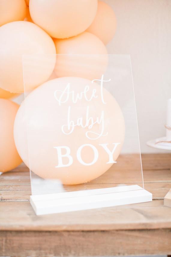 boy baby shower sign