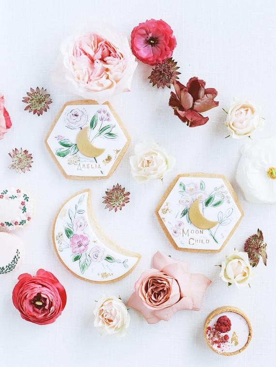 Moon themed sugar cookies