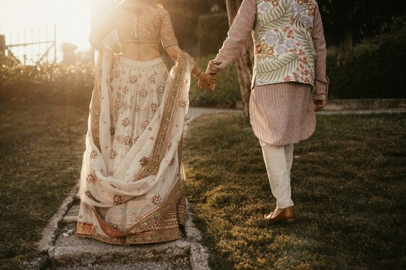 Earth tone Indian wedding fashion