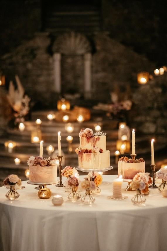 candlelight cake display