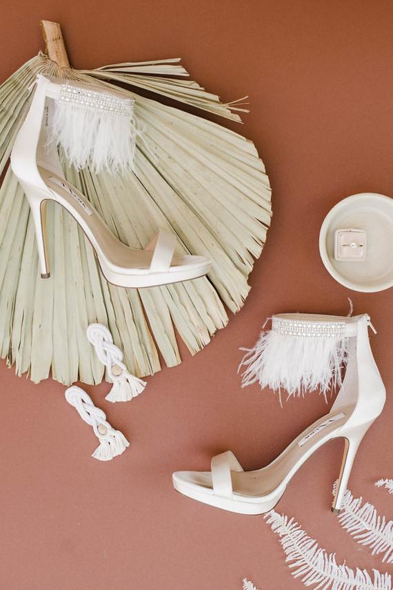 Fringe bridal heels