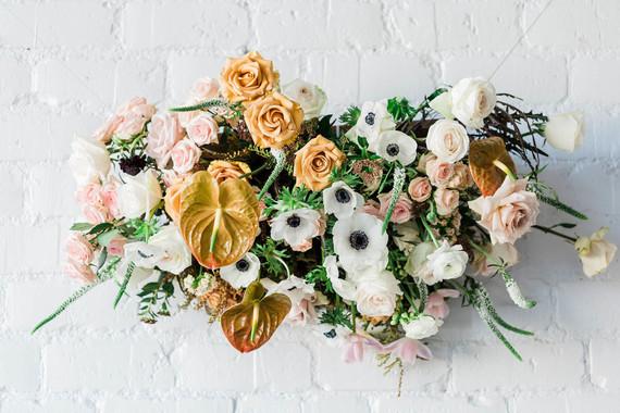 spring floral installation