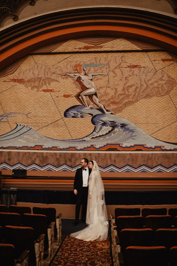 Catalina Island wedding in Avalon Theater