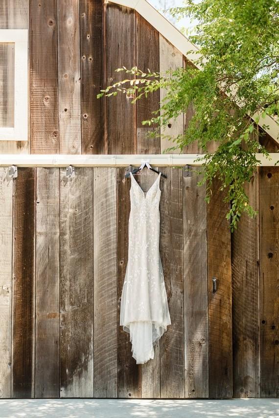 rustic BHLDN wedding dress