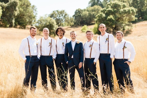 Rustic groomsmen fashion