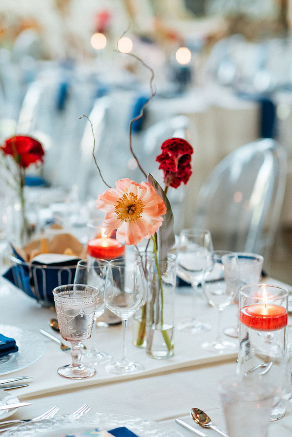 Bold, bright DIY wedding