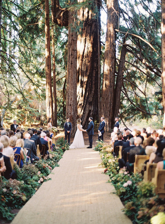 Redwoods wedding ceremony
