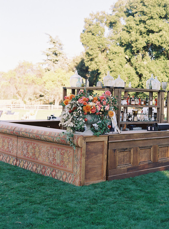 Wedding bar at Santa Lucia Preserve