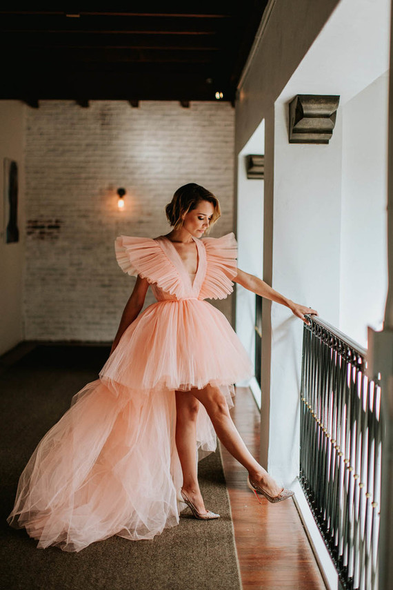 Ethereal bridal inspiration (with a pink dress!) at the Ebell Long Beach