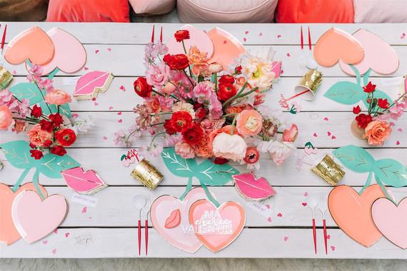 Red centerpiece for Valentine's florals