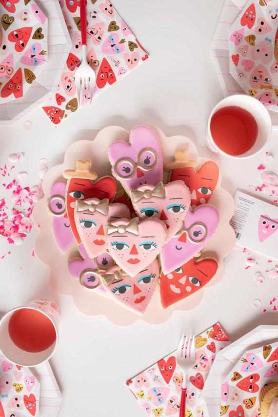 Valentine's Day sugar cookies