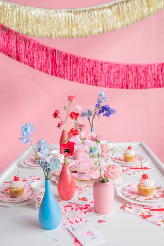 Valentine's Day fringe decor