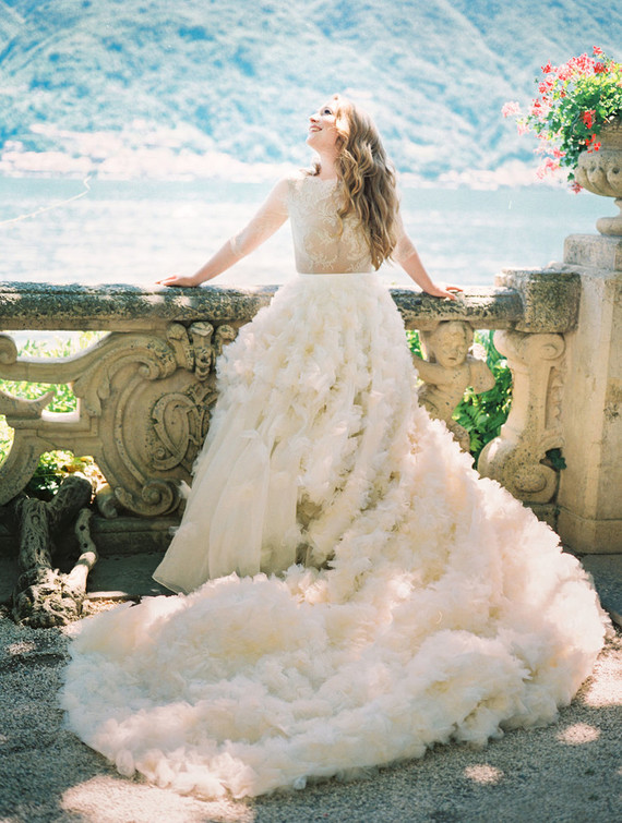 Ruffled full wedding skirt