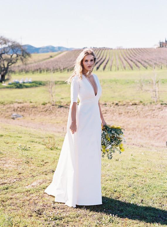 elegant modern bride