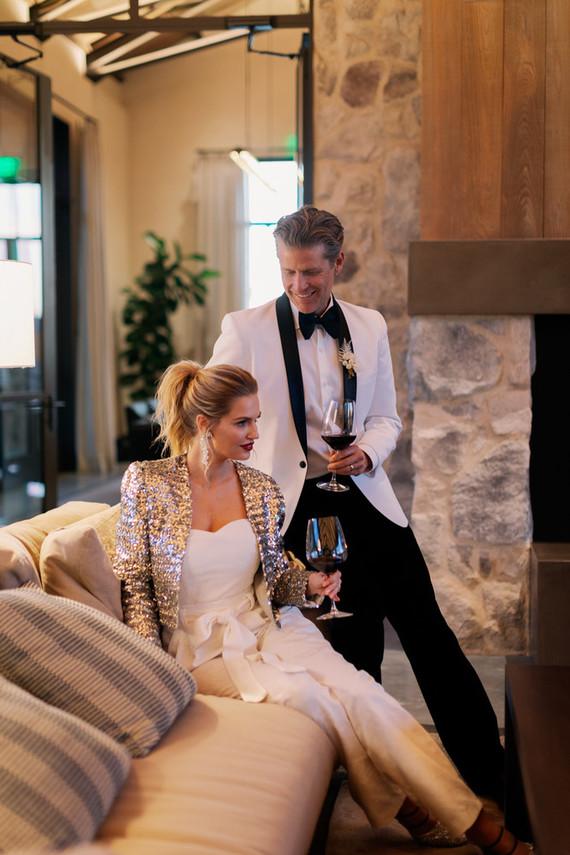 Sequin jacket for bride