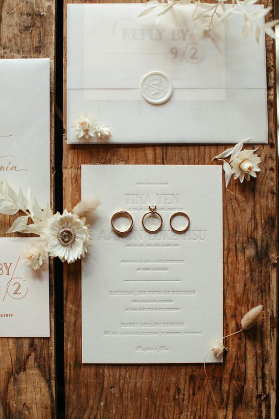blush and cream wedding invitations
