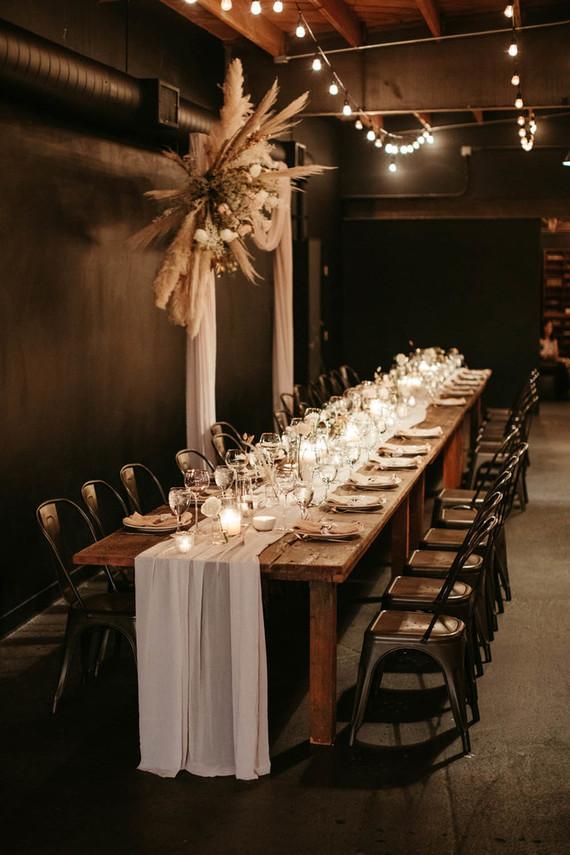 modern minimal wedding tablescaope