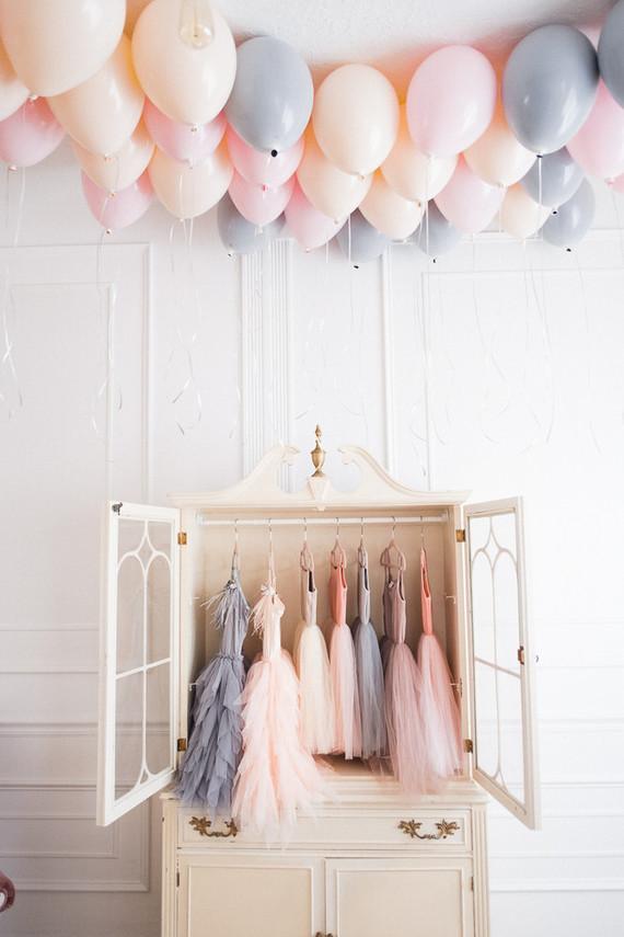 pastel balloons for girl's birthday