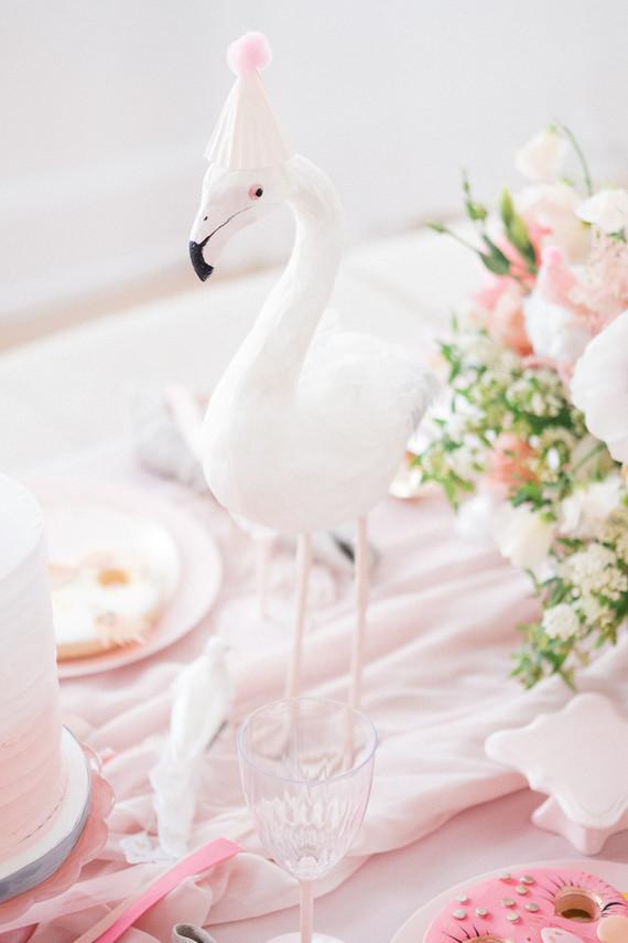 Pastel pink + lavender bird-themed girls birthday party
