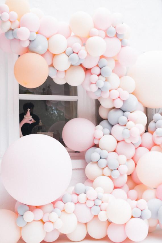 pastel balloon installation