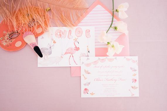 bird-themed birthday invitations